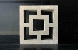 Breeze Block - Double Square - White